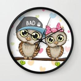 CUTE--OWL Wall Clock