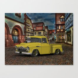 1957 3100 #Chevy Truck poster. Canvas Print