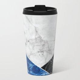 White Marble Blue Granite & Black Granite #514 Travel Mug