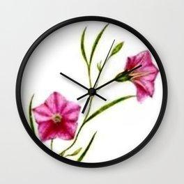 Vintage Wildflower Pink Wall Clock