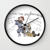 nori Wall Clocks featuring What does Nori say by BlueSparkle