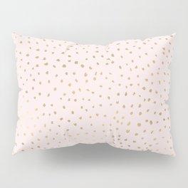Dotted Gold & Pink Pillow Sham