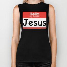 Hello Jesus Biker Tank