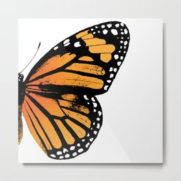 Monarch Butterfly | Right Butterfly Wing | Vintage Butterflies | Metal Print
