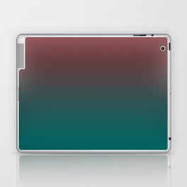 Ombre Quetzal Green Dark Red Pear Gradient Pattern Laptop & iPad Skin
