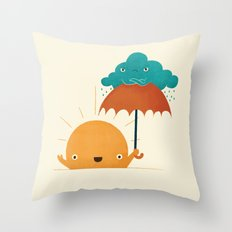 Lighten Up! Throw Pillow