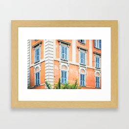 162. Old Orange Building, Rome Framed Art Print