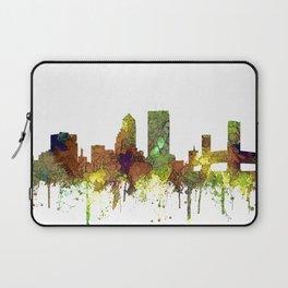Jacksonville, Florida Skyline SG - Safari Buff Laptop Sleeve
