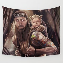 Father and Son Swamp Training Wall Tapestry