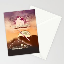 Gay Marriage Killed the Dinosaurs Stationery Cards