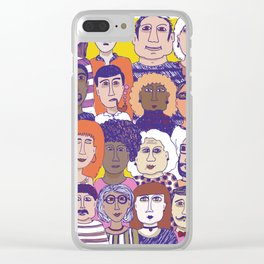 All the people Clear iPhone Case