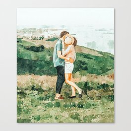 Togetherness #painting Canvas Print