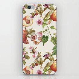 botanical fruits iPhone Skin