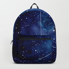 Watercolor zodiac constellation aquarius Backpack
