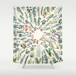 focus garden Shower Curtain