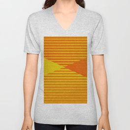 Yellow stripes and balls ... Unisex V-Neck