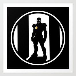 Golden Avenger Art Print