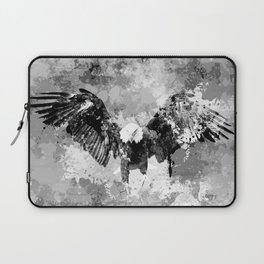 Abstract Black and White Eagle collage Laptop Sleeve