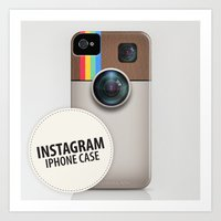 instagram Art Prints featuring INSTAGRAM by Gal Ashkenazi