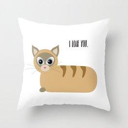 Loaf Cat Throw Pillow
