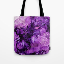 Purple Amethyst Crystals Tote Bag