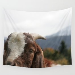 Look who's complaining, funny goat photo Wall Tapestry