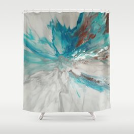 Blown Away - Abstract Acrylic Art by Fluid Nature Shower Curtain