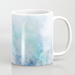Fresh Blue and Aqua Ombre Frozen Marble Coffee Mug