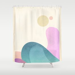 Foam Rising Shower Curtain