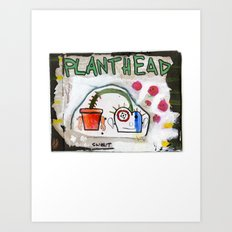 Plant Head Art Print