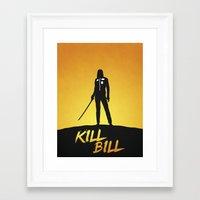 kill bill Framed Art Prints featuring Kill Bill by Nick Kemp