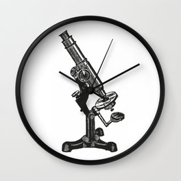 Microscope Wall Clock