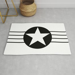 Black And White Star Rug