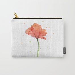 Poppy Flower Watercolor Carry-All Pouch