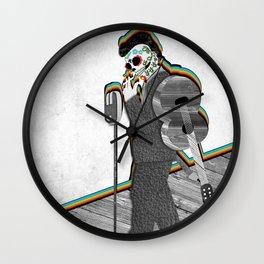 Johnny Cash Sugar Skull // Digital // Mixed Media Wall Clock