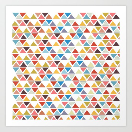 Triangle love Art Print