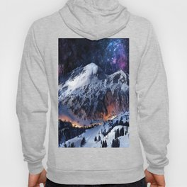 Mountain CALM IN space view Hoody