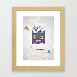 OH TOO BAT-2 Framed Art Print