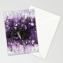 White And Purple Stones Stationery Cards