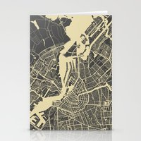 amsterdam Stationery Cards featuring Amsterdam by Map Map Maps