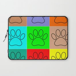 Puppy Paws In Squares Laptop Sleeve