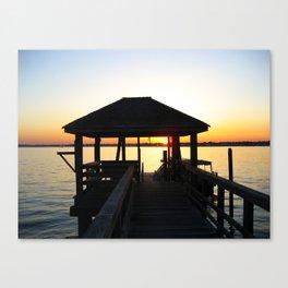 Norwalk, Sheffield Island, Sunset, Connecticut Canvas Print