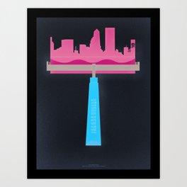 Jacksonville Brayer Art Print