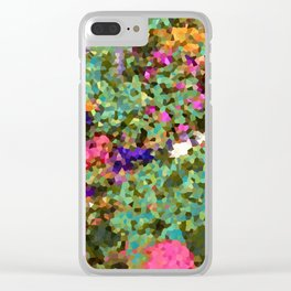 Crystal Flowers Clear iPhone Case
