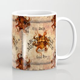 Here There Be Monsters Talking Board Coffee Mug