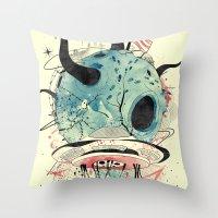 et Throw Pillows featuring ET Explorer by choppre