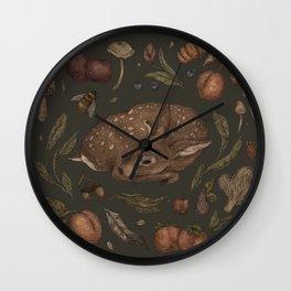 Foraging Fawn Wall Clock