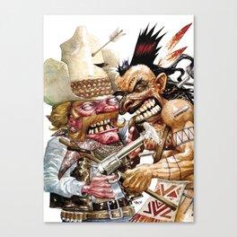 cowboy and native american Canvas Print
