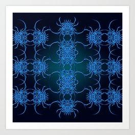 Tribal Crab Pattern Art Print
