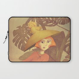 Girl running in a wilderness illustration Laptop Sleeve